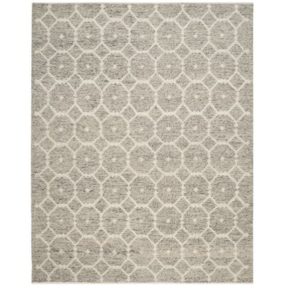 Vermont Hand-Woven Gray/Ivory Area Rug Rug Size: Rectangle 8 x 10