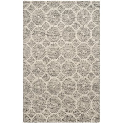 Vermont Hand-Woven Gray/Ivory Area Rug Rug Size: 4 x 6
