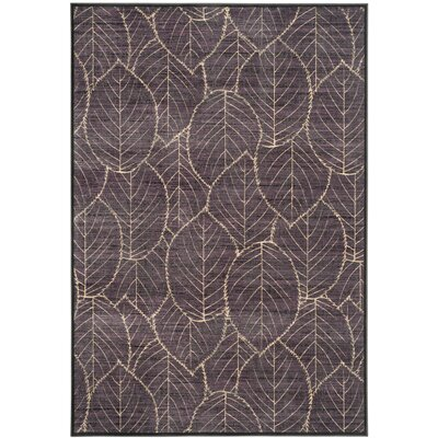 Martha Stewart Charcoal Area Rug Rug Size: Rectangle 4 x 57