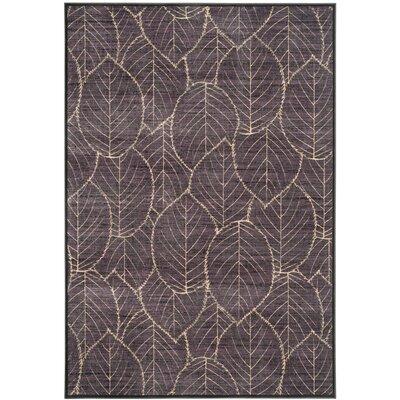 Martha Stewart Charcoal Area Rug Rug Size: 53 x 76