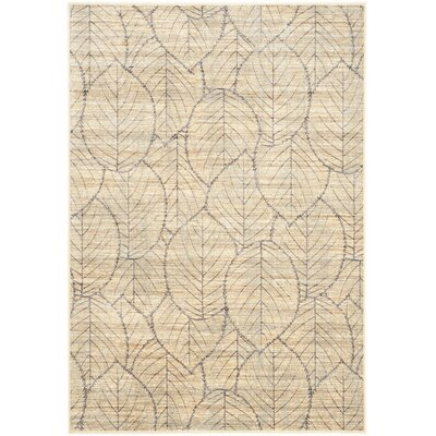 Bowery Cream Area Rug Rug Size: 5'3