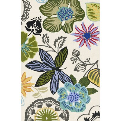 Forsyth Road Hand-Hooked Ivory Indoor / Outdoor Area Rug