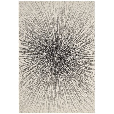 Cybil Black / Ivory Area Rug Rug Size: 4 x 6