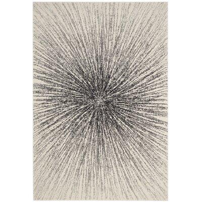 Cybil Black / Ivory Area Rug Rug Size: 51 x 76