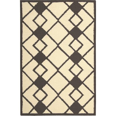 LaGuardia Hand-Tufted Ivory/Gray Area Rug Rug Size: Rectangle 26 x 310