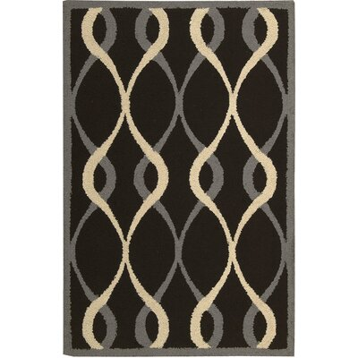 LaGuardia Hand-Tufted Black Area Rug Rug Size: Rectangle 26 x 310