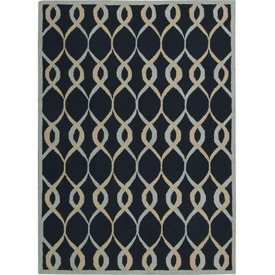 LaGuardia Hand-Tufted Navy Area Rug Rug Size: Rectangle 8 x 10