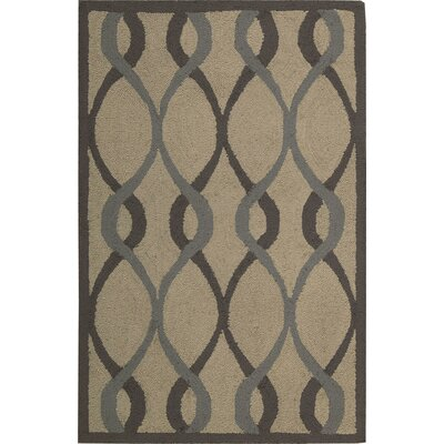 LaGuardia Hand-Tufted Taupe Area Rug Rug Size: Rectangle 8 x 10