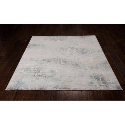 Roscoe Silver Area Rug Rug Size: Round 56