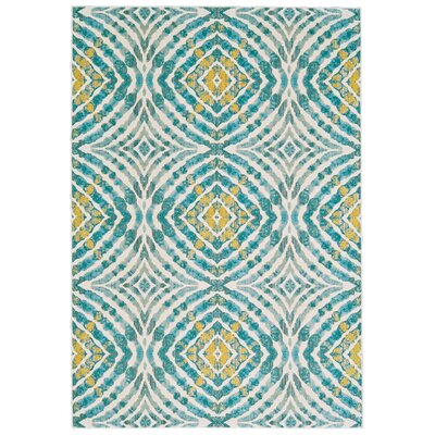 Sutton Place Teal Area Rug Rug Size: Rectangle 53 x 76