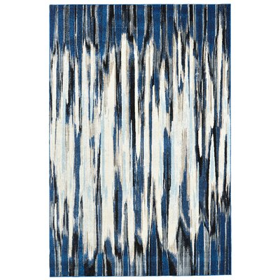 Beach Channel Indigo Area Rug Rug Size: 102 x 139