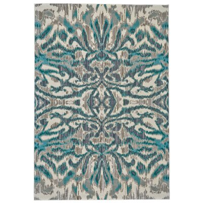 Sutton Place Aqua/Haze Area Rug Rug Size: Rectangle 53 x 76