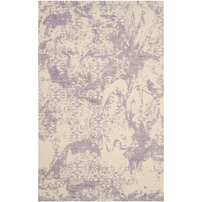Tenth Avenue Hand-Tufted Grey / Ivory Area Rug Rug Size: Round 6 x 6