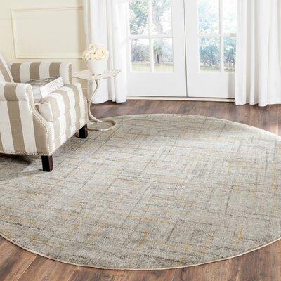 Elvis Grey/Dark Grey Area Rug Rug Size: Round 67 x 67