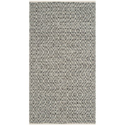 Shevchenko Place Hand-Woven Ivory/Dark Gray Area Rug Rug Size: 5 x 7