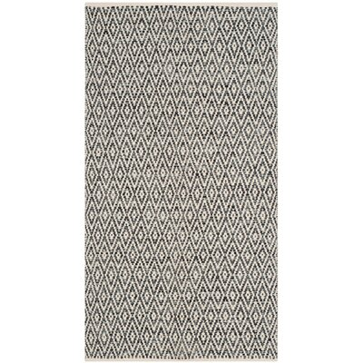 Shevchenko Place Hand-Woven Ivory/Dark Gray Area Rug Rug Size: 23 x 39
