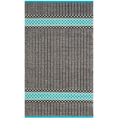 Shevchenko Place Hand-Woven Turquoise Area Rug Rug Size: 5 x 7