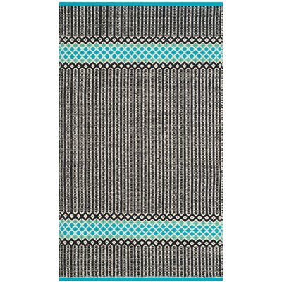 Shevchenko Place Hand-Woven Turquoise Area Rug Rug Size: 23 x 39