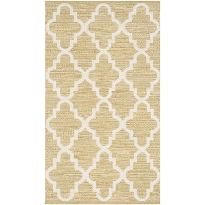 Shevchenko Place Hand-Woven Green / Ivory Area Rug Rug Size: Rectangle 26 x 4