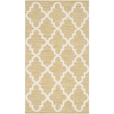 Shevchenko Place Hand-Woven Green / Ivory Area Rug Rug Size: 4 x 6