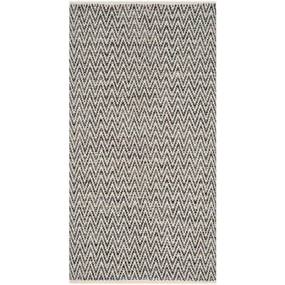 Shevchenko Place Hand-Woven Ivory / Dark Grey Area Rug Rug Size: Rectangle 23 x 39
