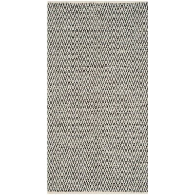 Shevchenko Place Hand-Woven Ivory / Dark Grey Area Rug Rug Size: 5 x 7