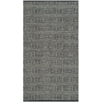 Shevchenko Place Hand-Woven Black / White Area Rug Rug Size: 4 x 6