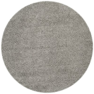 Wilder Light Grey Area Rug Rug Size: Round 67 x 67