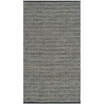 Shevchenko Place Hand-Woven Ivory / Dark Grey Area Rug Rug Size: Rectangle 5 x 7