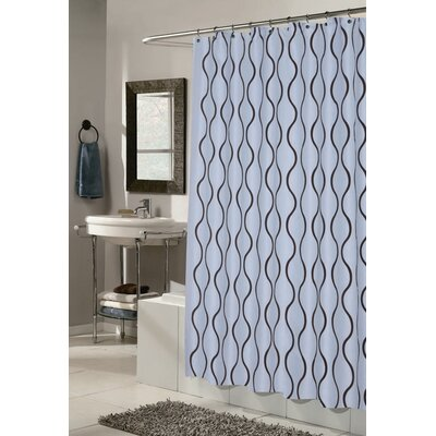 Dyer Shower Curtain Color: Blue / Brown