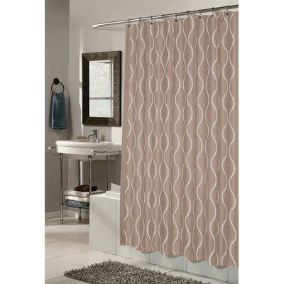 Dyer Shower Curtain Color: Ivory / Taupe