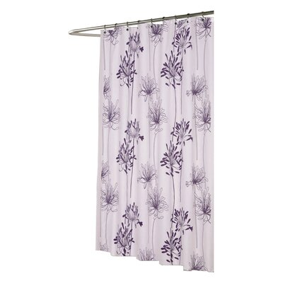 Knopf Shower Curtain Color: White and Indigo
