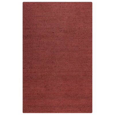 Allegan Hand-Loomed Red Area Rug Rug Size: 8 x 10
