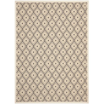 Armenta Cream / Chocolate Area Rug Rug Size: Rectangle 67 x 96