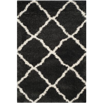 Cherry Street Charcoal / Ivory Area Rug Rug Size: Rectangle 4 x 6