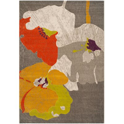 Elvis Dark Grey / Ivory Area Rug Rug Size: 24 x 67