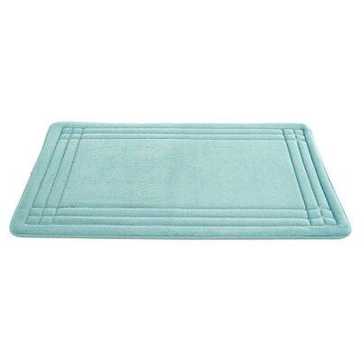 McBride Embossed Memory Foam Bath Rug Color: Jade, Size: 24 H x 17 W