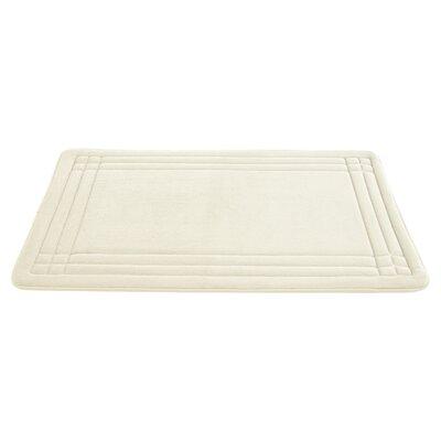McBride Embossed Memory Foam Bath Rug Size: 34 H x 21 W, Color: Ivory