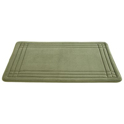 Knopp Embossed Memory Foam Bath Rug Size: 24 H x 17 W, Color: Blue