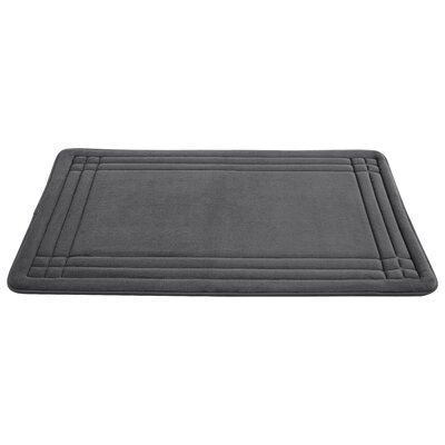 McBride Embossed Memory Foam Bath Rug Size: 24 H x 17 W, Color: Blue