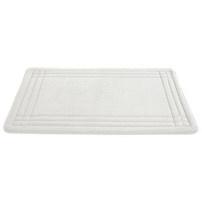 McBride Embossed Memory Foam Bath Rug Size: 34 H x 21 W, Color: White