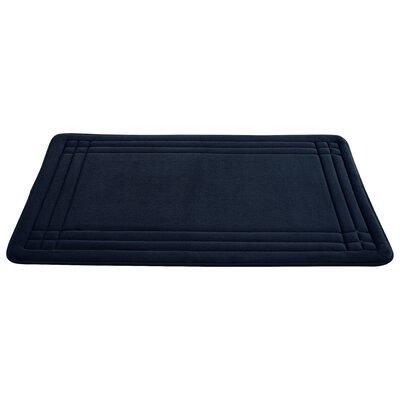 McBride Embossed Memory Foam Bath Rug Size: 34 H x 21 W, Color: Indigo