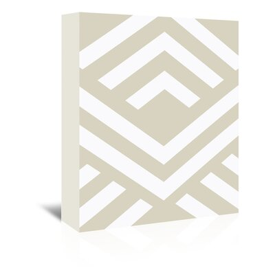 Beckett Aztec Graphic Art on Wrapped Canvas Size: 14