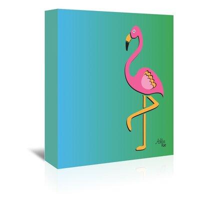 Cabrini Flamingo Print Graphic Art on Wrapped Canvas