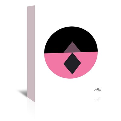 Cabrini Geometric Circle Graphic Art on Wrapped Canvas