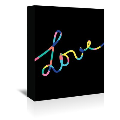 Cabrini Love Textual Art on Wrapped Canvas