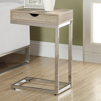 Lexington End Table With Storage Color: Natural