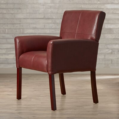 Milliken Leather Executive Lounge Chair Color: Burgundy