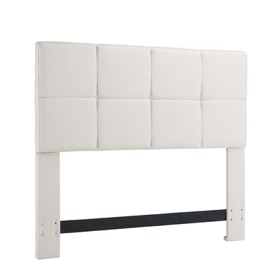 Tarina Upholstered Panel Headboard Size: Full / Queen, Upholstery: Bone (Off White)