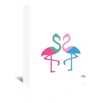 Cabrini Flamingo Two Graphic Art on Wrapped Canvas